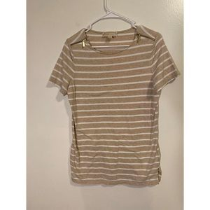 Michael kors stripe top with zipper